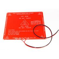 RepRap 3D طابعة PCB Heatbed MK2B خط السرير الحرارة لبروسا مندل 12/24 فولت B00251