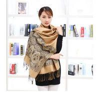 30 UNIDS otoño invierno nueva moda mujer nacional algodón y borla de lino bufanda damas mantienen caliente bufanda de protección solar 180 cm 8 colores envío gratis