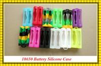 Silikon kılıf çantası 18650 piller için silikon karışımı renkler değiştirilebilir çift 18650 pil kapağı kauçuk cilt koruyucu uygun 18650 pil