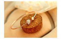 Gold Plated Adjustable CZ Crystal Pulsera Double Heart Shape...