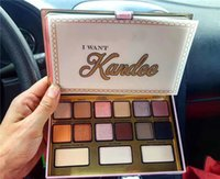 Nuovo makeup marca I Want Kandee Eyeshadow Palette I Want Kandee Limited Edition CANDY EYE OMYHADOW PALETTE 15 colori Eyeshadow Palette DHL