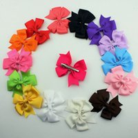 2015 Ribbon Baby Korean Boutique Hair Bows With Clips Fashio...
