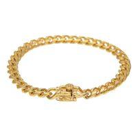 7mm Mens Miami Cubain Bracelet Chaîne Hip Hop Style Bracelet En Acier Inoxydable Lien De Mode Punk Bijoux 21.5 cm