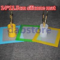 Tappetino antiaderente in silicone Tappetino antiaderente Tappetino in silicone antiaderente in silicone 14 * 11,5 pollici Dab Mat Dab Pad con fibra di vetro