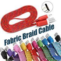 Tecido Colorido Cabo De Carregamento USB Cabo USB Carregador de Dados de Sincronização Mirco USB 1 M / 3FT Cabo Forte Para celulares sem pacote