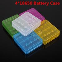 4 * 18650 배터리 케이스 박스 홀더 보관 컨테이너 플라스틱 휴대용 케이스 적합 4 * 18650 또는 4 * 18350 CR123A 16340 배터리 DHL 무료