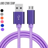 1 2 3M Braided Fabric Micro USB Sync Data Charger Cable Cord...
