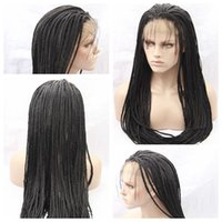 Cheap Sexy Synthetic Black Braiding Hair Wigs African Braide...