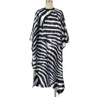 Hohe qualität zebra muster professionelle friseur schneiden umhang friseur beliebte friseursalon kleid cap für erwachsene