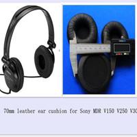 1 çift 70mm Deri Kulak Yastıkları Kulak Pad Değiştirme Sony MDR-V150 V250 V300 için kulaklık kulak yastık