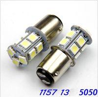 10X 1156 BA15S 1157 BAY15D 5W 5050 13SMD Voiture Led Feux De Frein Arrière Lampes Auto Arrière Reverse Ampoules DC 12 V