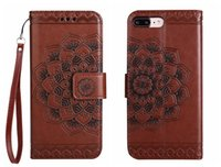 Flip Cover für iPhone 5 6 6s 7 8 Plus Case Leder Geldbörse Luxus Court Flower für iPhone6 iPhone7 Case Flip Cover