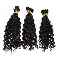 المصنع مباشرة فضفاض موجة عميقة معظم الشعر 3 حزم / الكثير نسج جيد الشعر جديلة الشعر بيرو الإنسان