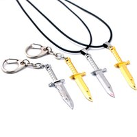 CSGO M9 Collane Keychian Simulate coltello in pelle Chian Collana in lega Counter Strike per regalo Hot Game Jewelry