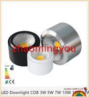 SIE dimmbare LED-COB Strahler 3W 5W 7W 10W 12W 15W 18W 85-265V Surface Mounted Wandleuchte Spot führte für Home Küche Badezimmer-Dekor