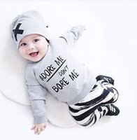 Wholesale- Newborn Baby Boy Girls Clothes Set Long Sleeve To...