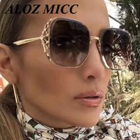 ALOZ MICC Vintage Diamond Square Sunglasses Women New Crysta...