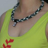 Ge-Титан Спорт энергии витой ожерелья (GT-063) торнадо ожерелье 3 веревки ожерелье