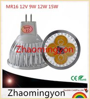 1pcs lot high power MR16 12V 9W 12W 15W Dimmable led spotlig...