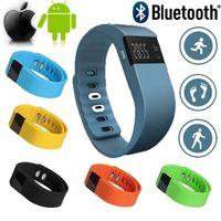 TW64 Akıllı Bileklik Spor Aktivite Tracker Için Bluetooth 4.0 Smartband Spor Bilezik Pedometre IOS Samsung Android Cep Telefonları PK Miband
