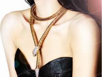 섹시한 목걸이 진술 목걸이 펑크 목걸이 18K 금은과 조절 가능한 스네이크 쵸커 목걸이 쥬얼리 진술 목걸이
