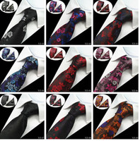 20 Styles Hommes Ties ensembles Floral 100% soie jacquard tissé cravate Cravate Corbatas Hanky Boutons de manchette cravate Ensemble pour hommes du Parti de mariage formel