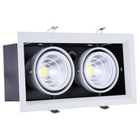 Hot sale Super 2*15W Warm Cold White Double COB LED Downligh...