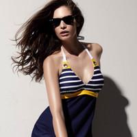 3xl جديد قطعة واحدة المايوه بحار شريطية النساء مبطن شاطئ ملابس السباحة اللباس الأزرق الداكن زائد حجم بيكيني tankini المرفقة أسفل