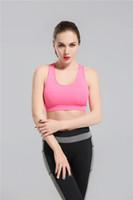 2018 Rosa Yoga BH Mode Quick Dry Sportswear Damen Tops Fitness Yoga Sport BH Gym Kleidung Freies Drop Shipping lymmia