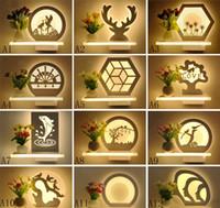 Moderne einfache geführte und frische Blumenvasenwandlampendekorationskorridorromantische Schlafzimmernachttischlampenbalkonkorridorwandlampen und -laternen