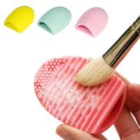 Nouveau Silicone Brosse Nettoyage Oeuf Brosse oeuf Cosmétique Brosse Nettoyant Maquillage Brosse Pinceau Cleaner Nettoyer les outils