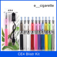 Kit de démarrage Ego atomiseur CE4 Kit de cigarette électronique pour cigarette électronique 650mAh 900mah 1100mAh Batterie EGO-T Kit de blister ce4 Clearomizer E-cigarette
