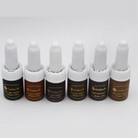Livraison gratuite 6 pc cosmétique or rose tatouage encre permanent maquillage micro pigment couleur