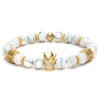 Royal Natural Matte Agate Stone Perlen Stränge Handgemachte Heilung Energy Armband Armband Für Männer und Frauen Mittleres Geschenk Valentinstag Urlaub Weihnachten