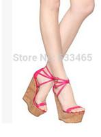 Bombas 2020 nova moda chegada 14 centímetros de salto alto verão sandálias de cunha vestido de festa para as mulheres