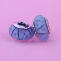 Discussione Bllue Murano Perle di vetro idonei al Pandora bracciali reale perle sciolte Argento 925 originale fai da te modo incanta Fare 1pc / lot