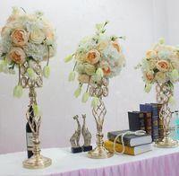 Hochzeit Requisiten vergoldet Eisen Blumen ware Bühne Hintergrund kreative europäische Heimtextilien schnelle Lieferung frei Versand WQ17