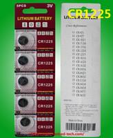 2000PC (400cards) Batteria orologio CR1225 3V al litio a bottone 5pcs per carta della bolla