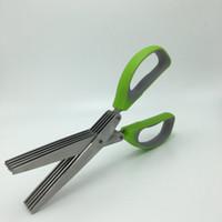 Hochleistungshacken Schere 5 Klingen mit Bürste Algen Vanille Office Cut Shredding Schere Sharp Herb Grüne Zwiebel Werkzeug Beste Qualität