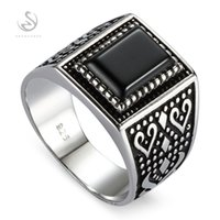 Exquisite Gift 925 sterling Silver Jewelry rings Black agate...