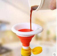 Neue Küche Bunte tragbare Mini Silikon Gel Faltbare zusammenklappbar Stil Trichter Trichter Küche Cozinha Kochen Werkzeuge Zubehör Gadgets