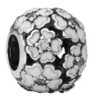 Wholesale 30pcs Silver Charm Beads Flower Ball European Charms Bead Big Hole Fit Pandora Snake Chain Bracelet & Necklac Fashion DIY Jewelry