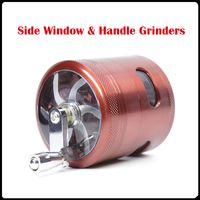 Nuovi smerigliatrici per griglie per finestre laterali all'ingrosso 63mm 4 strati smerigliatrici per metalli in lega di zinco Smerigliatrici per erba Smerigliatrici per tavole VS Affilatrici per smerigliatrici