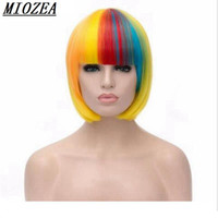Hair Short Straight Hair Women Wig Harajuku Peruca Cosplay W...