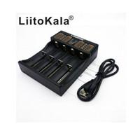 2017 100% original Liitokala Lii-402 18650 Caricatore 1,2 V 3,7 V 3,2 V AA / AAA 26650 18350 14500 16340 LiFePO4 Ni-MH Ni-Cd Rechareable de Bate