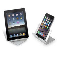 Suporte de telefone celular de alumínio suporte de mesa de segurança stand tablet para iphone 8/7/7 plus para samsung smartphone para ipad air 2