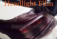 1 rolo Matte fumaça Faróis Do Carro Tinting Farol Tint filme Luz preto matiz da lâmpada tamanho do Vinil 0.3x10 m / Roll