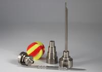 Titan Nail Kit Gr2 Domeless 6 i 1 10mm 14mm 19mm Bong Tool Set Carb Cap Dabber Slicone Jar för glas Vattenrör