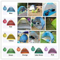 SimpleTents Fácil Carry Tendas Acessórios de Acampamento Ao Ar Livre para 2-3 Pessoas Barraca de Proteção UV para a Praia de Viagens Gramado 20 Pçs / lote Tenda colorida