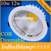 COB Led ceiling light 10w 12w cob led downlight dimmable led...